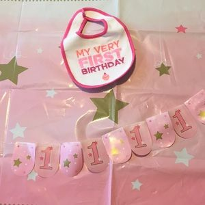 Other - Pink & Gold 1st Birthday Supplies